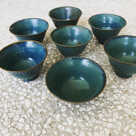 淡路島ブルー 碗(中)