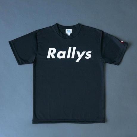 Rallys T [Black]|試合でも使えるTシャツ