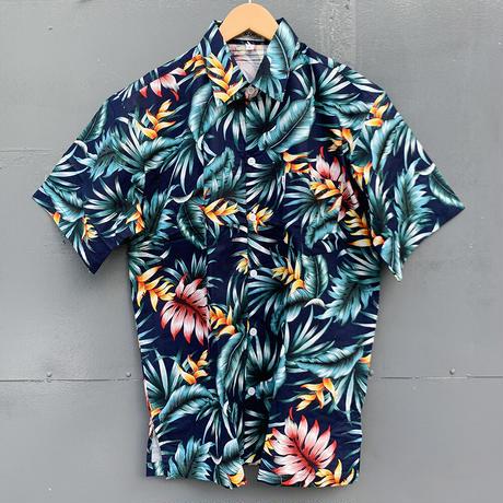 男女兼用アロハシャツ/ヘリコニア/Navy