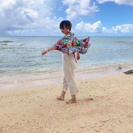 男女兼用レーヨンアロハシャツ / バナナリーフ【T6RP5】