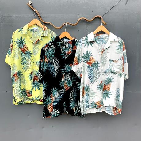 男女兼用レーヨンアロハシャツ/パイン/3color