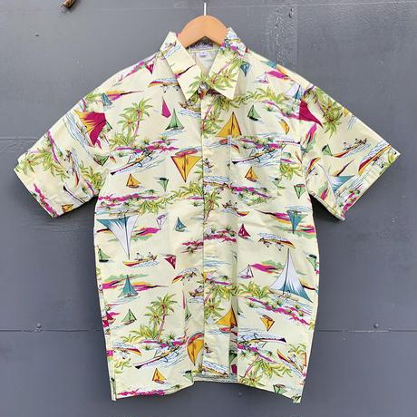 男女兼用アロハシャツ/ヨット/Cream