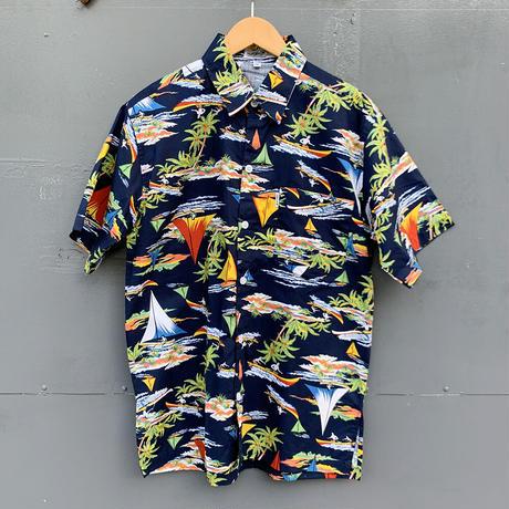男女兼用アロハシャツ/ヨット/Navy