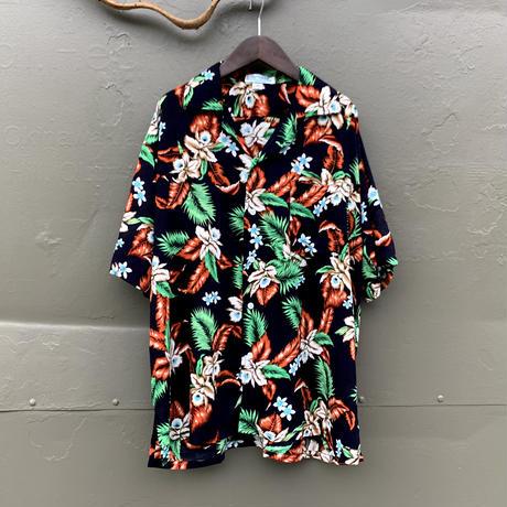 男女兼用レーヨンアロハシャツ/オーキッド/M,L/3color