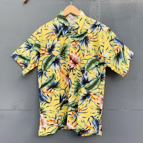 男女兼用アロハシャツ/ヘリコニア/S~XL対応/Yellow