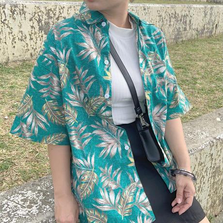 男女兼用アロハシャツ/リーフ【T6CP5】