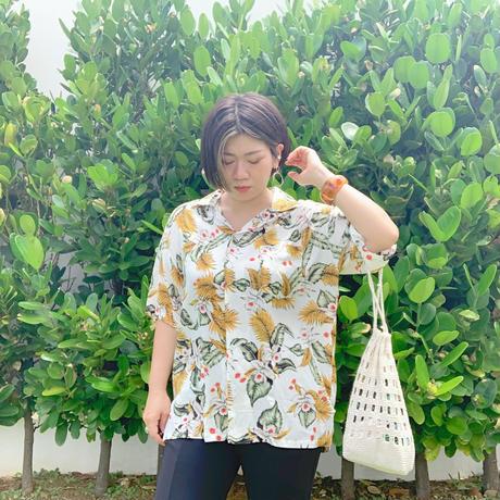 男女兼用レーヨンアロハシャツ/オーキッド【T6RP4】