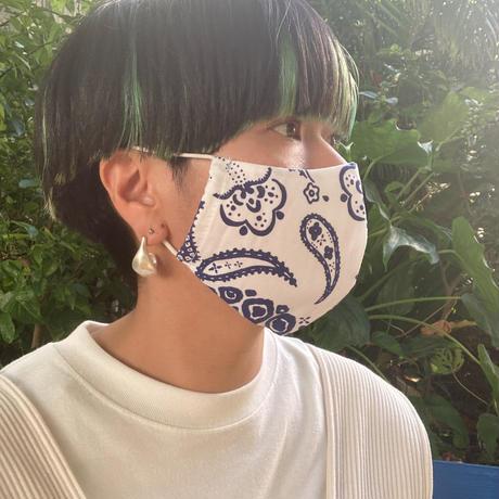 ♢男女兼用♢コットンマスク&マスクケース/エスニカパイン【T63CP11】