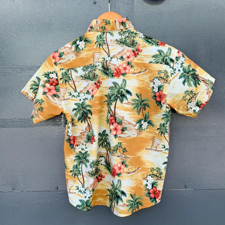 コットンキッズアロハシャツ/オーシャン【T45CP1】