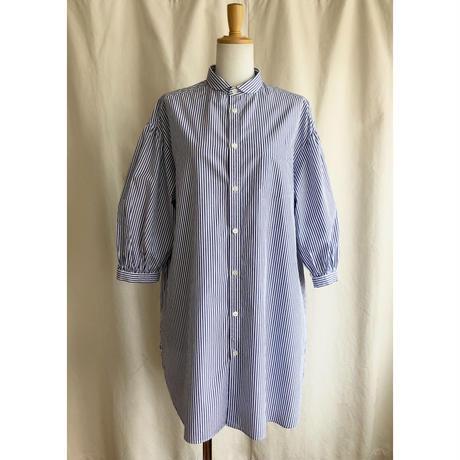 shady lane wear  grace blue stripe  (ブルーストライプラウンドカラーロングシャツ)