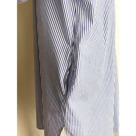 shady lane wear  carrie long blue  stripe (ブルーストライプスタンドカラーロングシャツ)