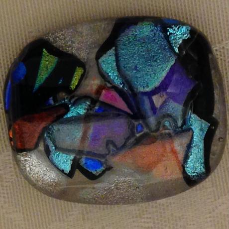 ダイクロガラス 帯留め (ダイクロガラス)  G6023