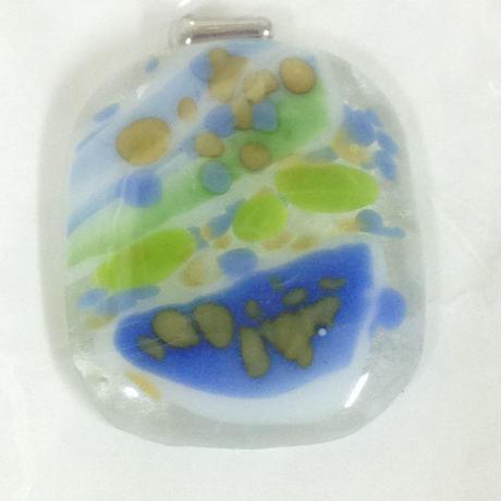 ガラス ペンダントトップ ネックレス G6004