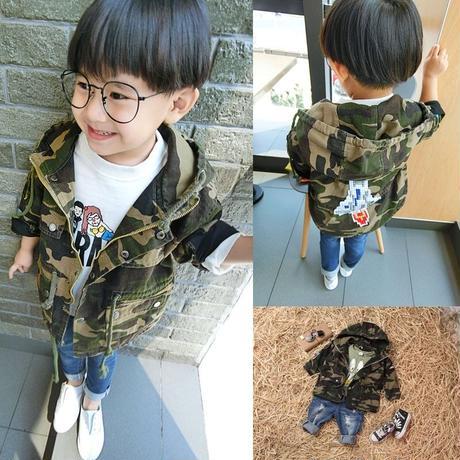 韓国子供服迷彩ジャケット
