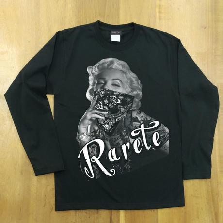 RARETE (ラルテ)  マリリン モンロー ローライダー ブラック  長袖Tシャツ