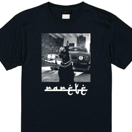 RARETE (ラルテ)  ドーベルマン Car ブラック  Tシャツ