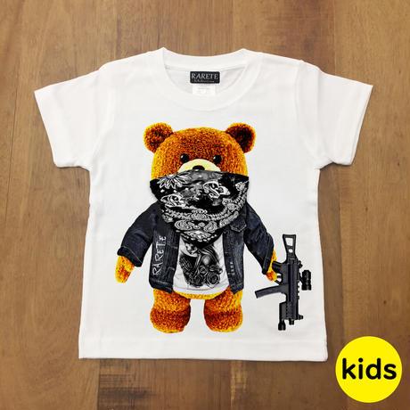 RARETE (ラルテ)  テディベア ドクロ Tシャツ   ホワイト 星柄 star (Kids)