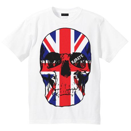 RARETE (ラルテ)   ドクロ スカル イギリス国旗   Tシャツ ホワイト