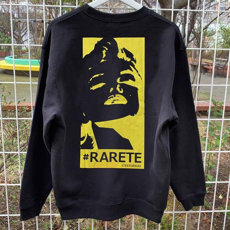 RARETE (ラルテ)   マリリンモンロー イエロー ブラック  トレーナー (裏パイル)