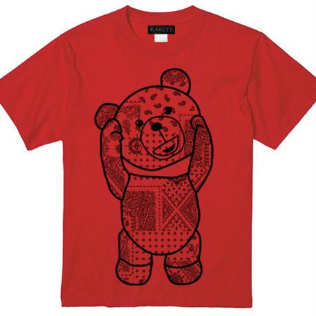 RARETE (ラルテ)   テディベア バンダナ レッド  Tシャツ