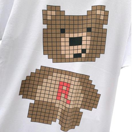 RARETE (ラルテ)  テディベア pixel ホワイト  Tシャツ