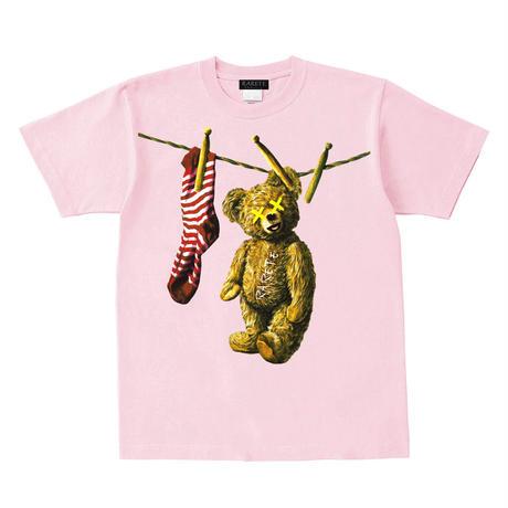 RARETE (ラルテ)  洗濯された! テディベア  Tシャツ ライトピンク