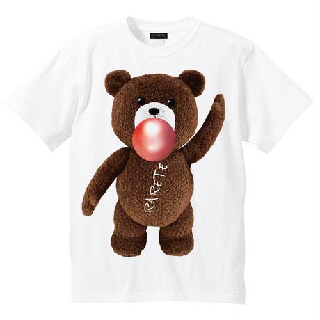 RARETE (ラルテ)   テディベア ガム  茶色  Tシャツ ホワイト