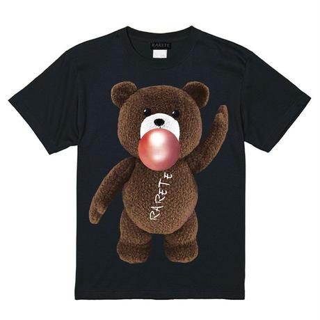 RARETE (ラルテ)   テディベア ガム 茶色  Tシャツ ブラック