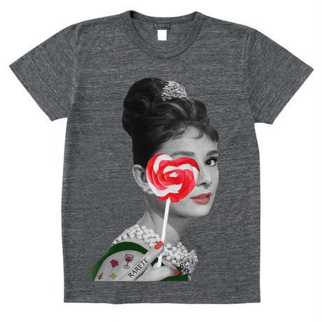 RARETE (ラルテ)   Hepburn キャンディー ハート  グレイブラック  Tシャツ