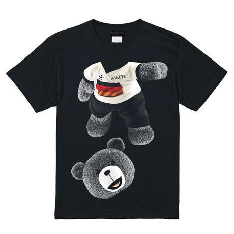 RARETE (ラルテ)   テディベア サッカー (グレイ)  Tシャツ ブラック