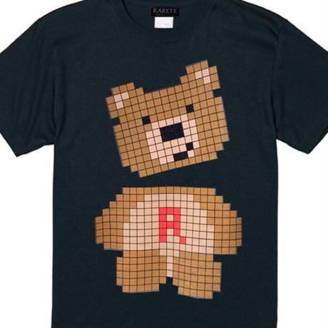 RARETE (ラルテ)  テディベア pixel ブラック  Tシャツ