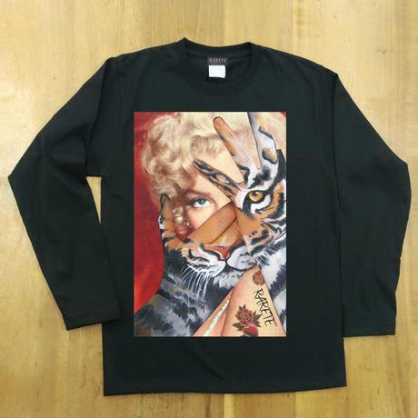 RARETE (ラルテ) マリリンモンロー トラ  ブラック  長袖Tシャツ