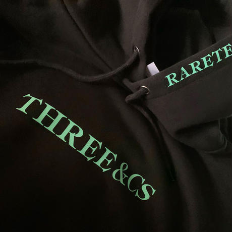 RARETE (ラルテ) THREE & CS   (三密)  ブラック パーカー ビジョナリーミントROGO