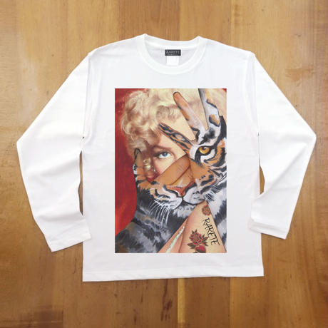 RARETE (ラルテ) マリリンモンロー トラ  ホワイト  長袖Tシャツ