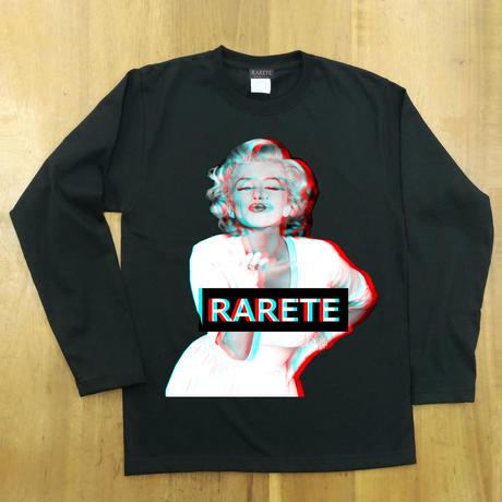 RARETE (ラルテ)  マリリンモンロー 3D KISS  ブラック  長袖Tシャツ