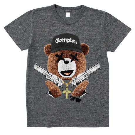 RARETE (ラルテ)   NWA テディベア  グレイブラック  Tシャツ
