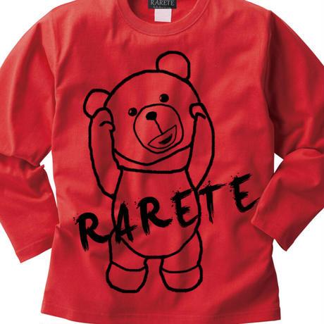RARETE (ラルテ) 首取れた アウトライン 長袖Tシャツ レッド