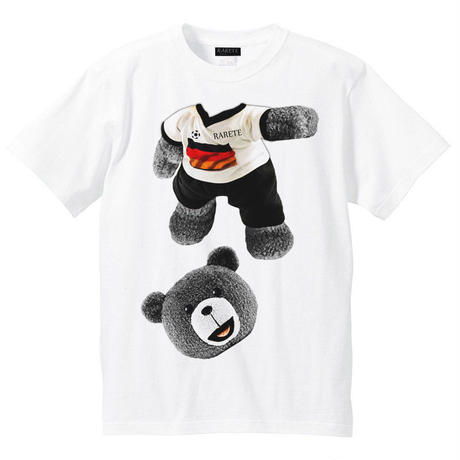 RARETE (ラルテ)   テディベア サッカー (グレイ)  Tシャツ ホワイト
