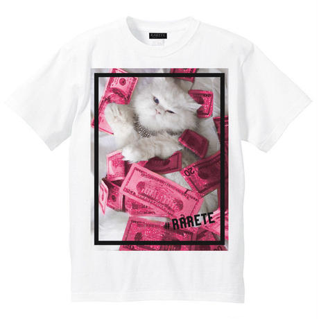 RARETE (ラルテ) Cat  money Tシャツ ホワイト