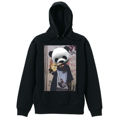 RARETE (ラルテ) Panda tatoo  パーカーブラック
