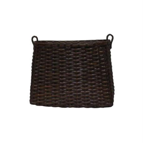 目積編み 籐籠