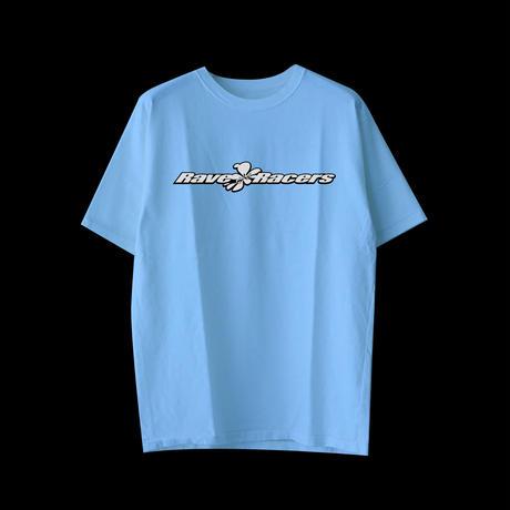 Rave Racers wide logo tee(Blue)
