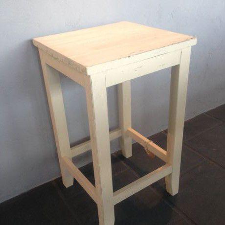 木製スツール ホワイト1