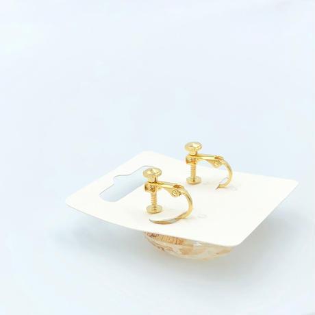 金粉入りのレジンイヤリング、ヘアクリップセット