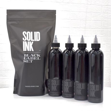 SOLID INK BLACK LABEL Grey Wash 4oz 4本セット