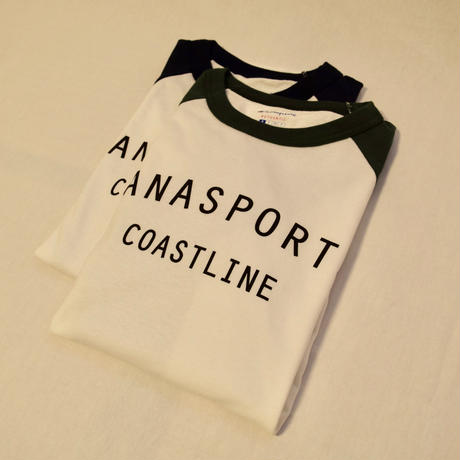 DANA SPORTS ''COAST LINE''7分袖ラグランT  CHAMPION   Navy/Green