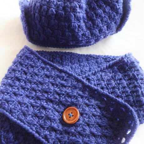 手編みマフラー&帽子