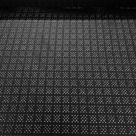 カットワークレース幾何学模様  黒 NOG