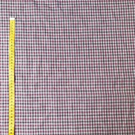 ヴィンテージコットンリネンのキバタ  チェック2カラーバリエーション