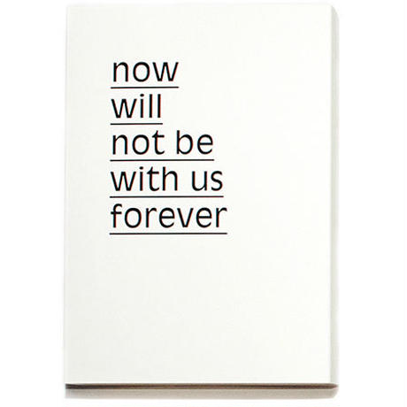 NOW WILL NOT BE WITH US FOREVER / Maurice Van Es